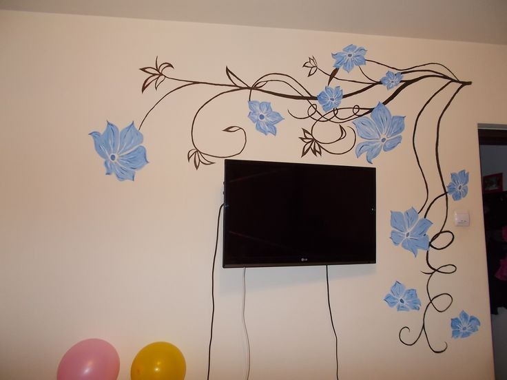 Painted wall inspired from sticker