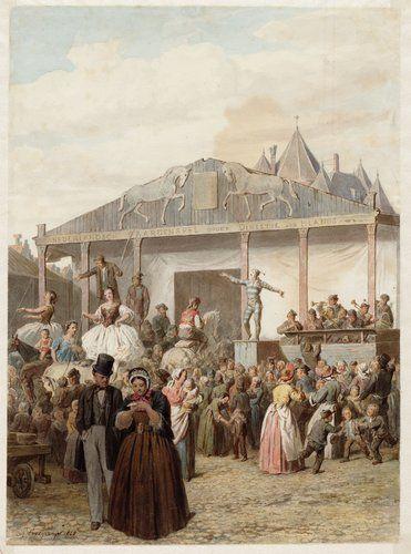 Kermis op de Amsterdamse Nieuwmarkt in 1866