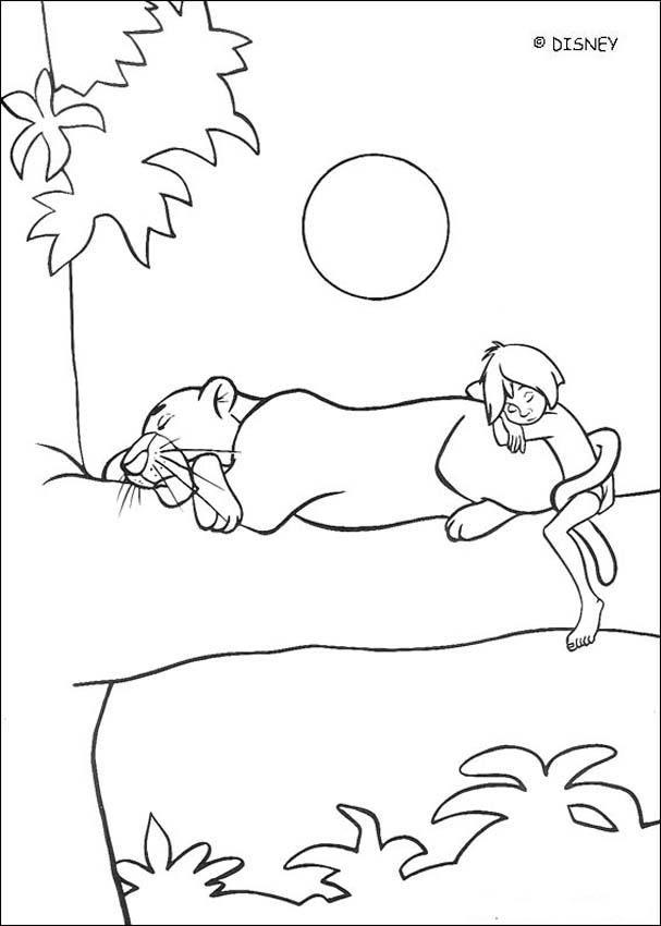 Mejores 106 imágenes de Disney Jungle Book Coloring Pages Disney en ...
