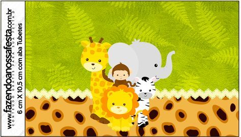 Uau! Veja o que temos para Rótulo Tubetes Safari