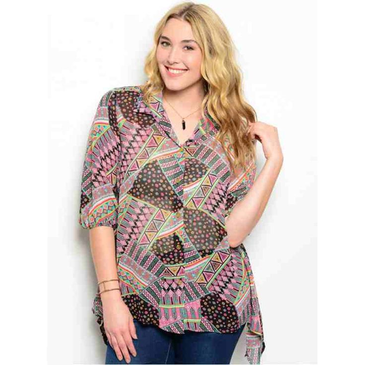 PRE-ORDER - PINK BLACK PLUS SIZE TOP $36.00 http://www.curvyclothing.com.au/index.php?route=product/product&path=95_101&product_id=5492&limit=100