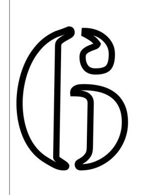 Plantillas de stencils de números y símbolos gratis para imprimir y hacer en casa: Plantillas de stencils de números y símbolos gratis para hacer en casa: 6