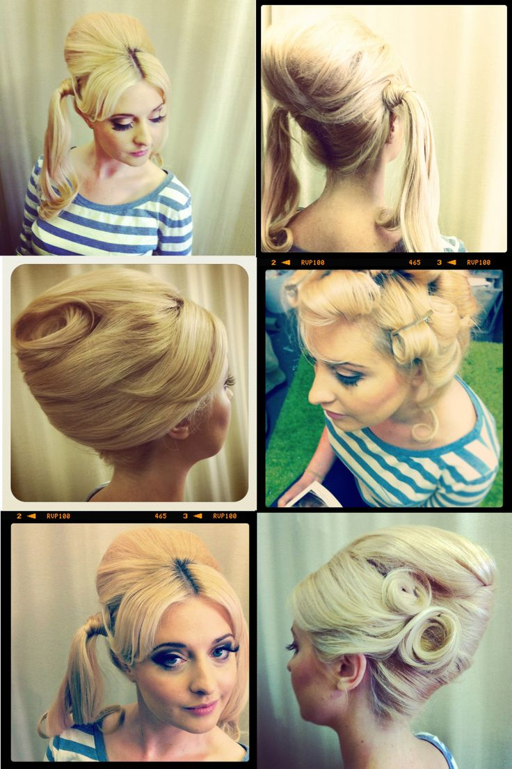 How To Style Hair With Hairspray 35 Best Hairspray Images On Pinterest  Hairstyles Chignons And Hair