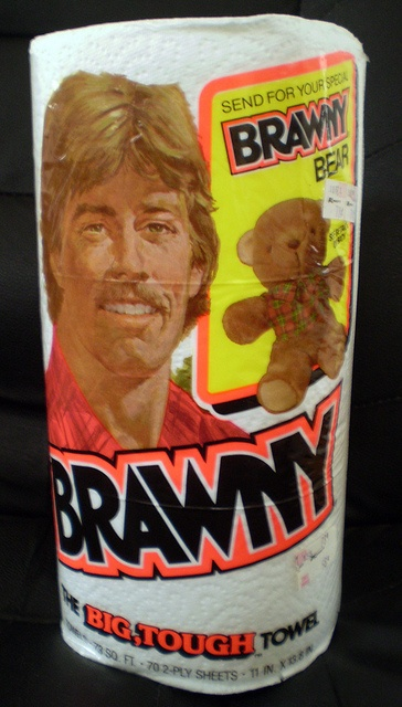 I remember this, but we used Bounty and my dad wouldn't try Brawny so I could get a bear!! Brawny paper towels (1985)