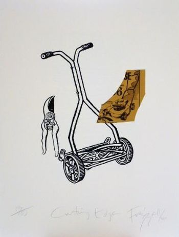 """Cutting Edge"" by Dick Frizzell. Screenprint. Edition of 100. 2011. 56 x 76 cm. Available for purchase, check it out at www.smythgalleries.co.nz"