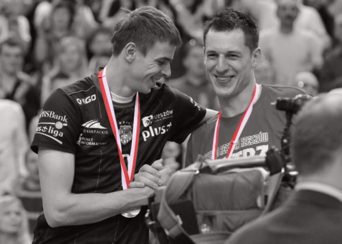 Mariusz Wlazły (on the left) - my personal hero & Aleh Ahrem (on the right): two captains of two awesome teams - PGE Skra Bełchatów and Asseco Resovia Rzeszów :)