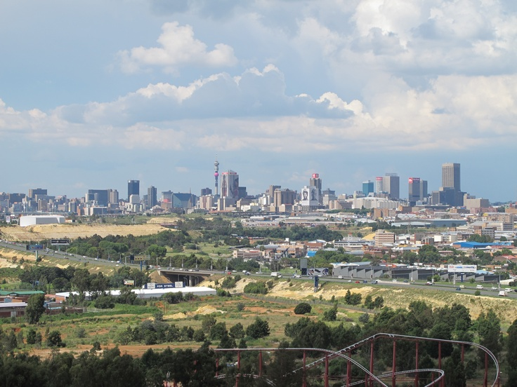 The view of Joburg from Gold Reef City. Missing South Africa