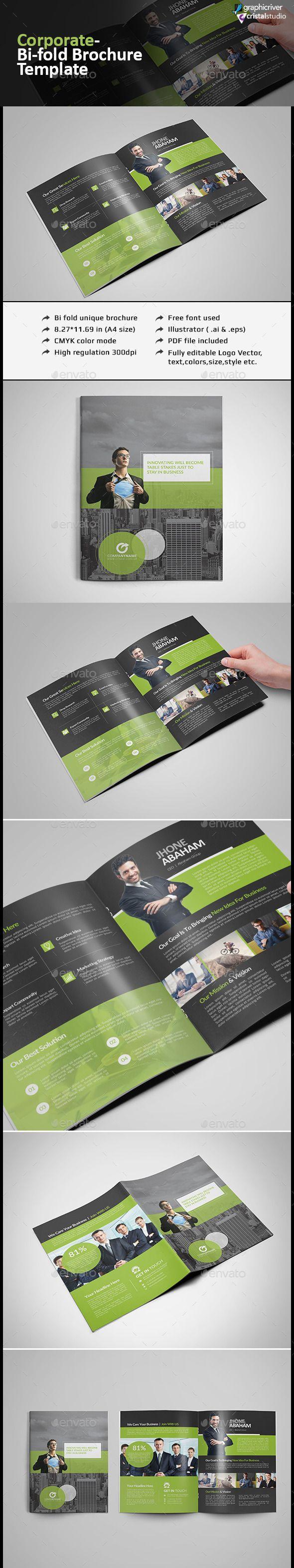 Bi-fold Brochure Template #design Download: http://graphicriver.net/item/bifold-brochure-template/12393539?ref=ksioks