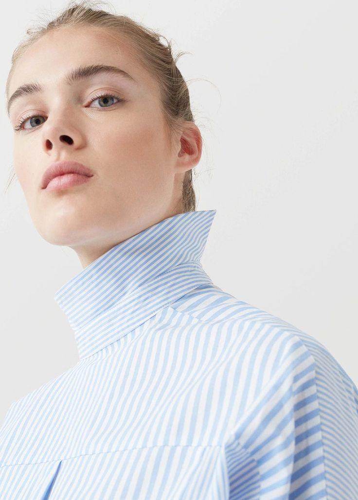 Camisa algodón rayas | MNG