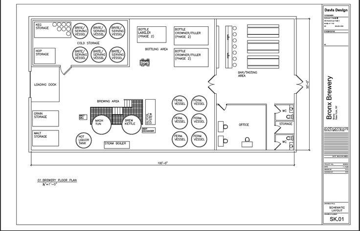 brewery floor plan