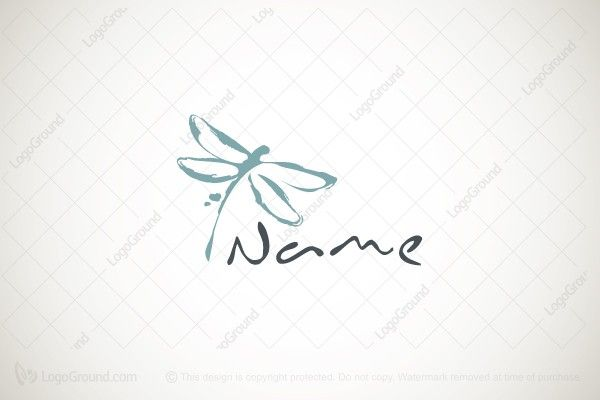 Logo for sale: Artistic Dragonfly Logo