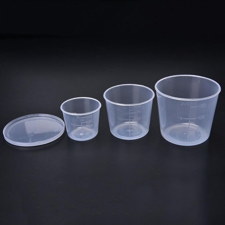 Plastic Fishing Measuring Cup Bait Tackle Boxes Water Measure Cover Fish Supplies Cups Box 50/100/200ml 3Pcs/set Wholesale