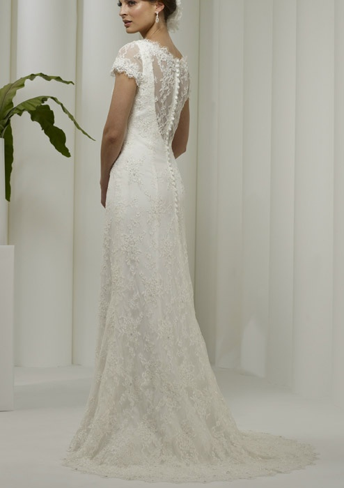 the back of my wedding dress