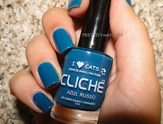 Cliché Colecção I Love Cats - Azul Russo