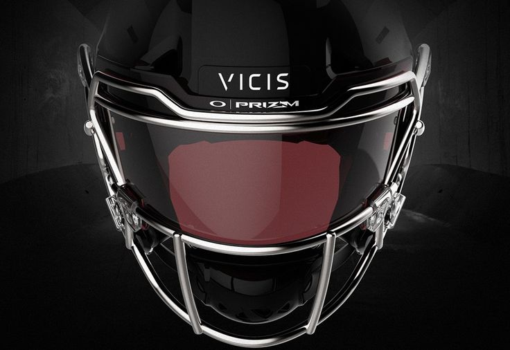 Oakley PRIZM lens lechnology applied to Edge Shield visor on VICIS Zero1 football helmet
