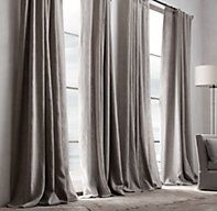 Restoration Hardware's Belgian Textured Linen Drapery:Woven from the world's finest Belgian flax by Libeco-Lagae, the oldest and most venerable mill in Belgium, our linen is unsurpassed for its soft hand, rich color, natural texture and superb longevity.