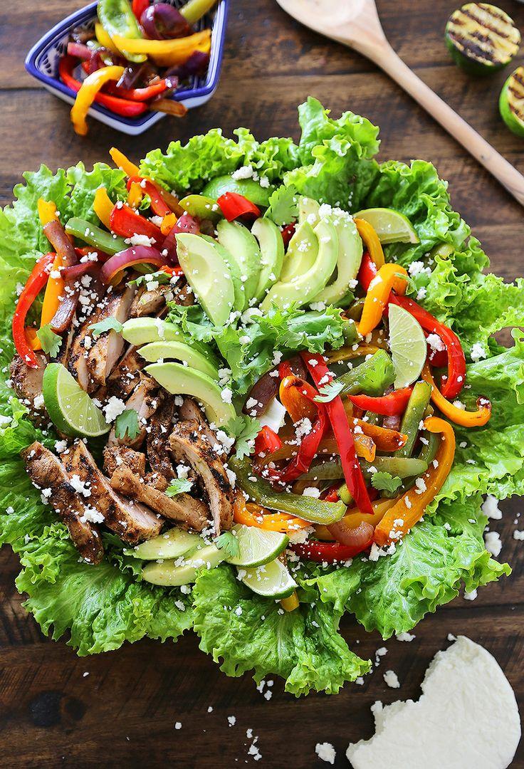 Grilled Chili-Lime Chicken Fajita Salad