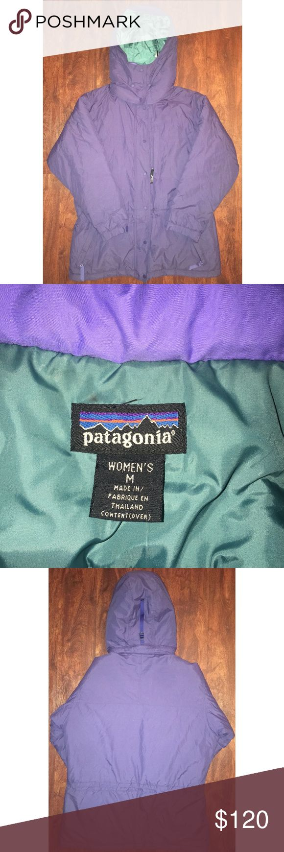 PATAGONIA PARKA Purple Sz M Very well kept coat in excellent condition. Extremely warm, inside is made of Nylon. Patagonia Jackets & Coats