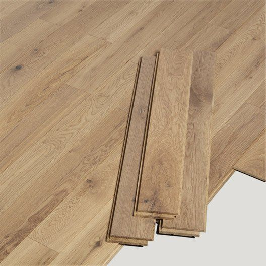 parquet massif alliance largeur s ch ne naturel vitrifi id es pour la maison pinterest ps. Black Bedroom Furniture Sets. Home Design Ideas