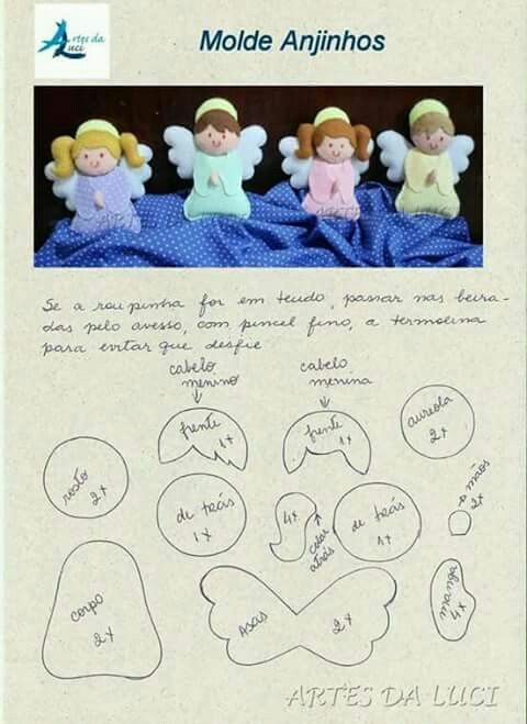 Angelitos de fieltro