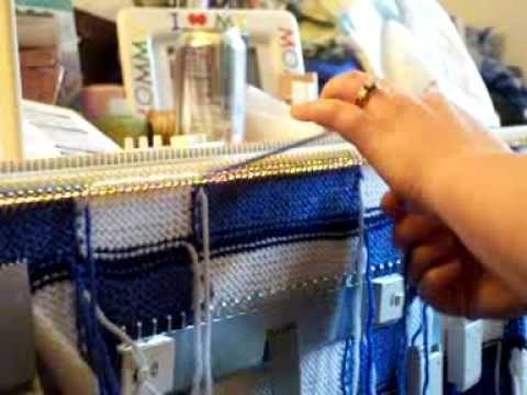 Intarsia~~machine knitting - YouTube