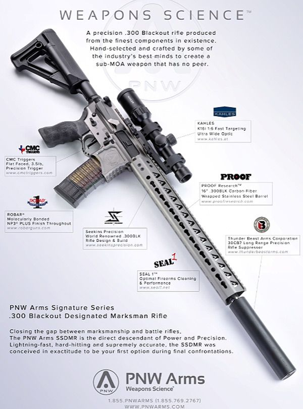 PNW Arms Signature Series .300 Blackout Designated Marksman Rifle. (SSDMR)