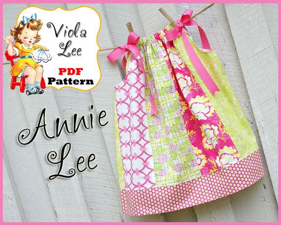 Annie Lee Pillowcase Dress Pattern. Girl's Dress Pattern. Toddler Pattern. INSTANT DOWNLOAD. Designed to be made with Remnants.. $6.00, via Etsy.