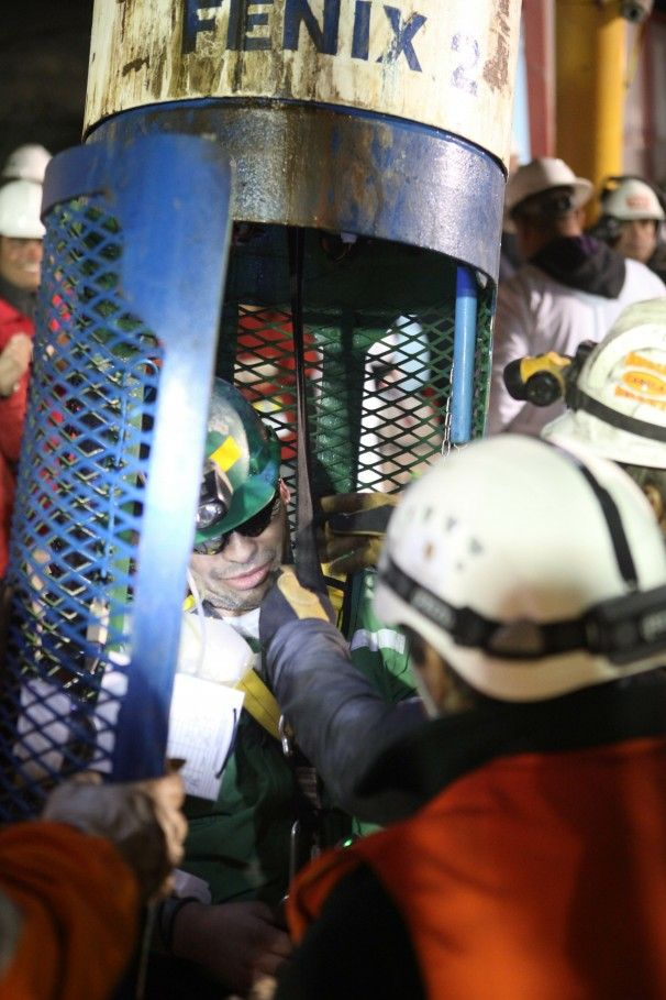 October 13 – Thirty-three miners near Copiapó, Chile, trapped 700 meters underground in a mining accident in San José Mine, are brought back to the surface after surviving for a record 69 days