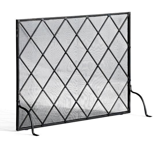 Lattice Fireplace Single Screen Fireplace Screens
