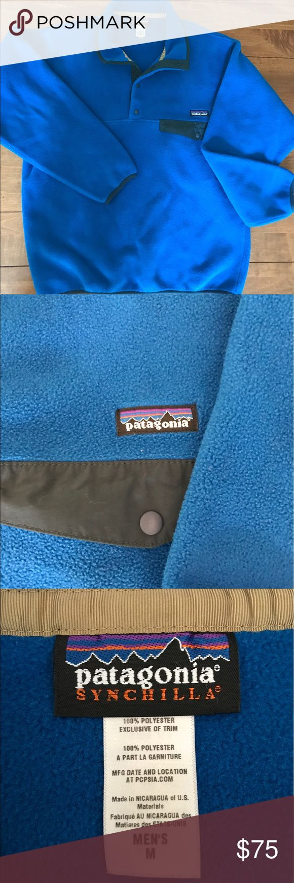 Patagonia Snap-T Pullover Vintage Men's in Andes Blue Patagonia Jackets & Coats