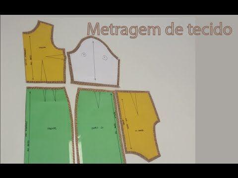 Como calcular a quantidade de tecido para uma peça de roupa - YouTube