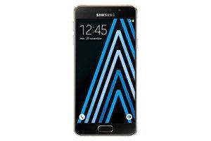 Samsung Galaxy A3 Smartphone débloqué 4G (Ecran: 4,7 pouces – 16 Go – Simple Nano-SIM – Android 5.1 Lollipop) Or