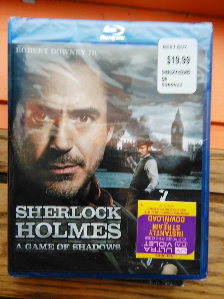 Blu-Ray Sherlock Holmes: A Game of Shadows  Robert Downing Jr Mystery Suspense