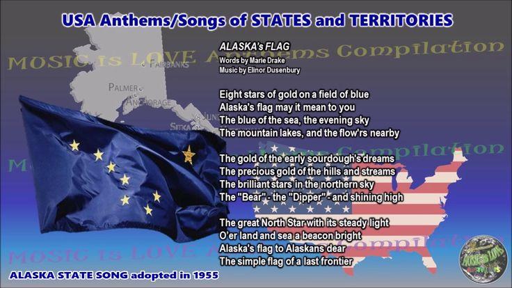 Alaska State Song ALASKA's FLAG with music, vocal and lyrics English - YouTube