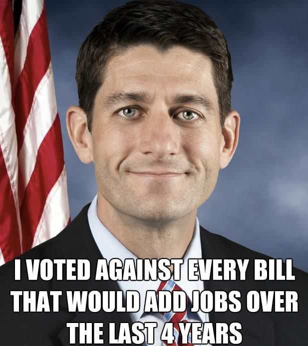 "Paul Ryan needs to go...Republicans have embraced Ryan's ""budget"", which turns Medicare into a voucher system, slashes funding for domestic agencies like the FBI and Border Security, and takes aim at Medicaid and Obamacare. Of course, the budget Ryan authored exempts the Pentagon from cuts. ~ http://www.politicususa.com/2013/03/21/republicans-advance-paul-ryans-budget-plunges-35-favorability.html"