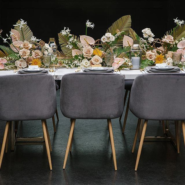 We've got affection for DAYS for this mid-century loft wedding inspiration that