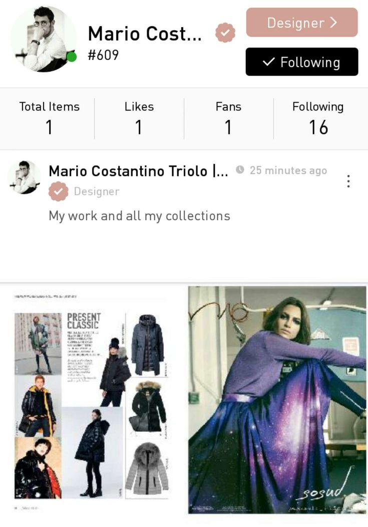 Marco Costantino Triolo, a fashion designer based in Milan, Italy