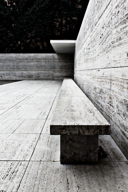 mies van der rohe pavilion in barcelona - so cool seeing it immediately after learning about it