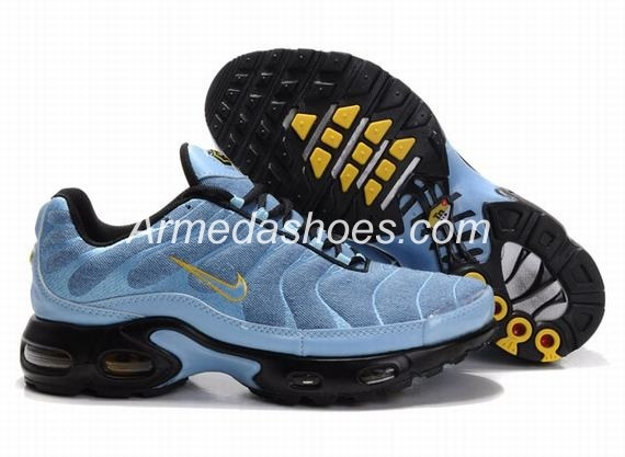 Nike Air Max TN Running Shoes Blue Gold White On Sale Online ...