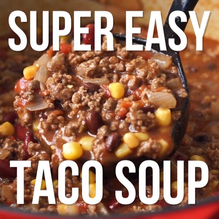 Taco Suppe Fleisch Käse low carb #scharf