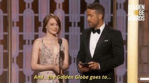 Golden Globe Awards emma stone ryan reynolds golden globes golden globes 2017