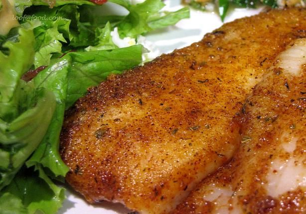Pan Fried Seasoned Tilapia without Breading Use recipe more so for the seasoning