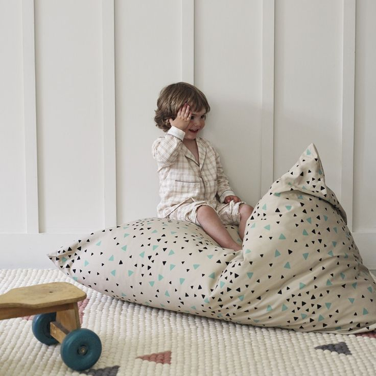 Amely Green Sparks Bean Bag, Designed by Nobodinoz