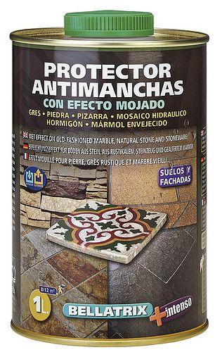 BELLATRIX es un protector antimanchas para suelos y fachadas de piedra natural, pizarra, mosaico hidráulico y gres rústico