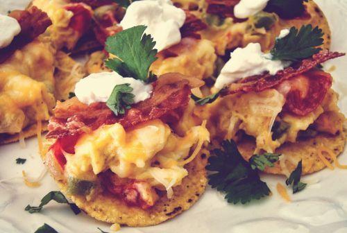 Recette de nachos au bacon et fromage en grain (Le paradis)