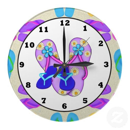 Beach Shoes Tropical wall clock