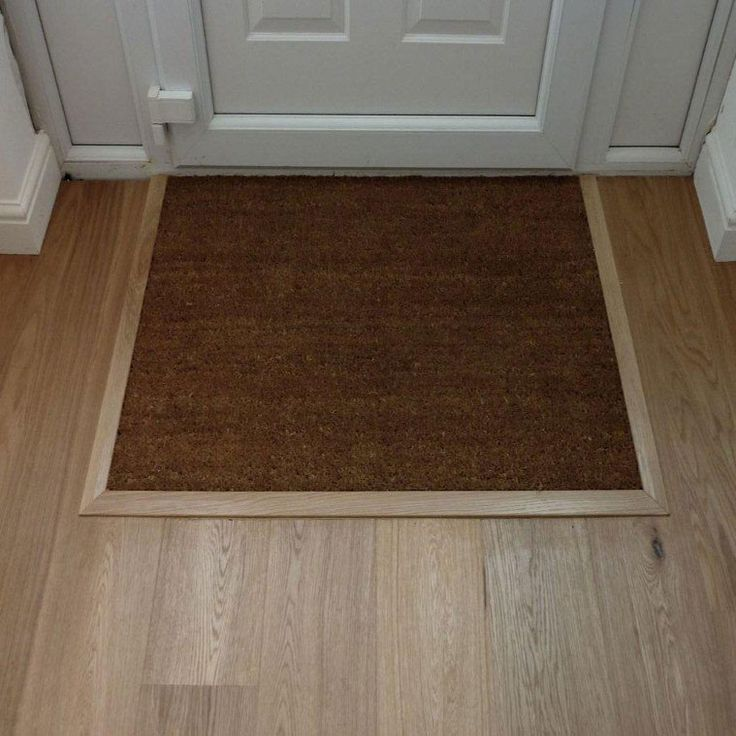 Example Of Inset Recessed Door Mat On Wood Floor Doors