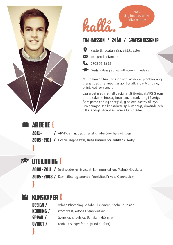 Best Images About Curriculum Vitae On Pinterest - Cv about myself section