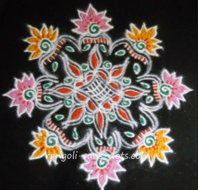 free hand rangoli that can be drawn for Sankranthi festival