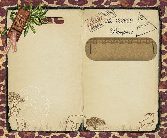 safari passeport invitation faire part pour mariage anniversaire enregistrer la date ou le bon. Black Bedroom Furniture Sets. Home Design Ideas